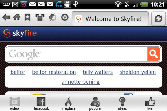 Skyfire 3.0 - Android's video and social media optimised browser