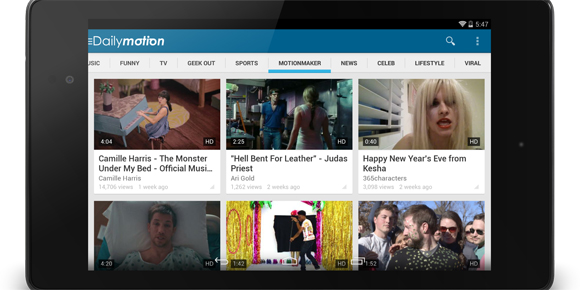 Dailymotion unveils new Android app